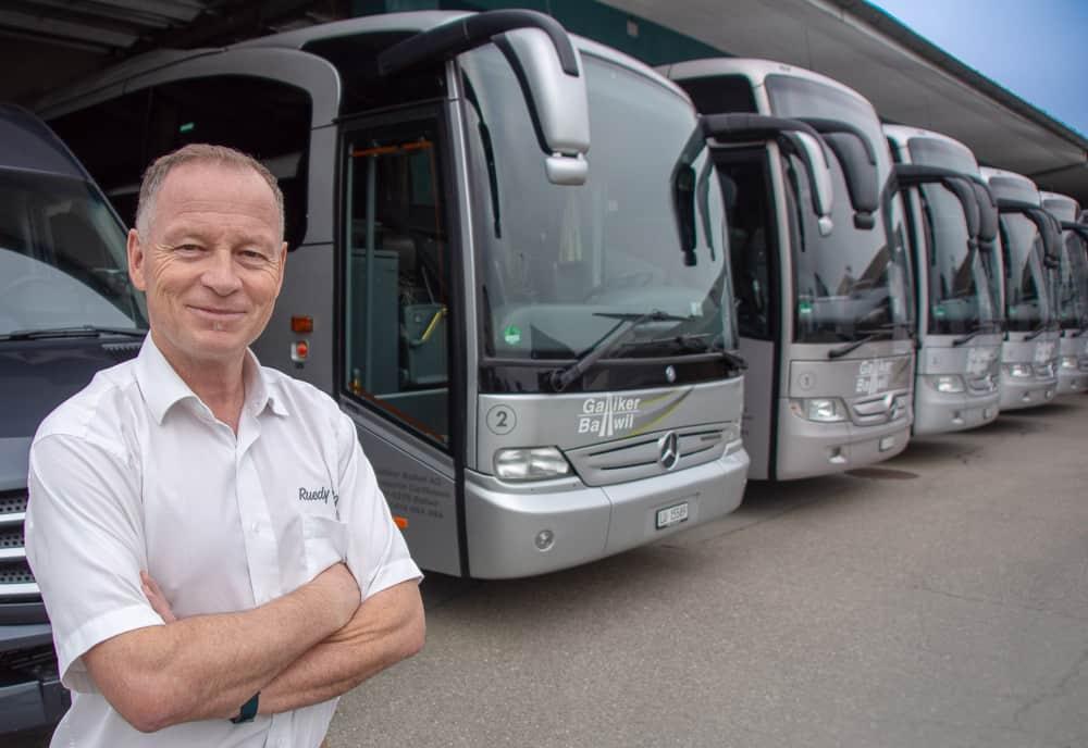 Bus oder Car mieten, Ruedy Bolliger von Galliker Ballwil AG - CarReisen