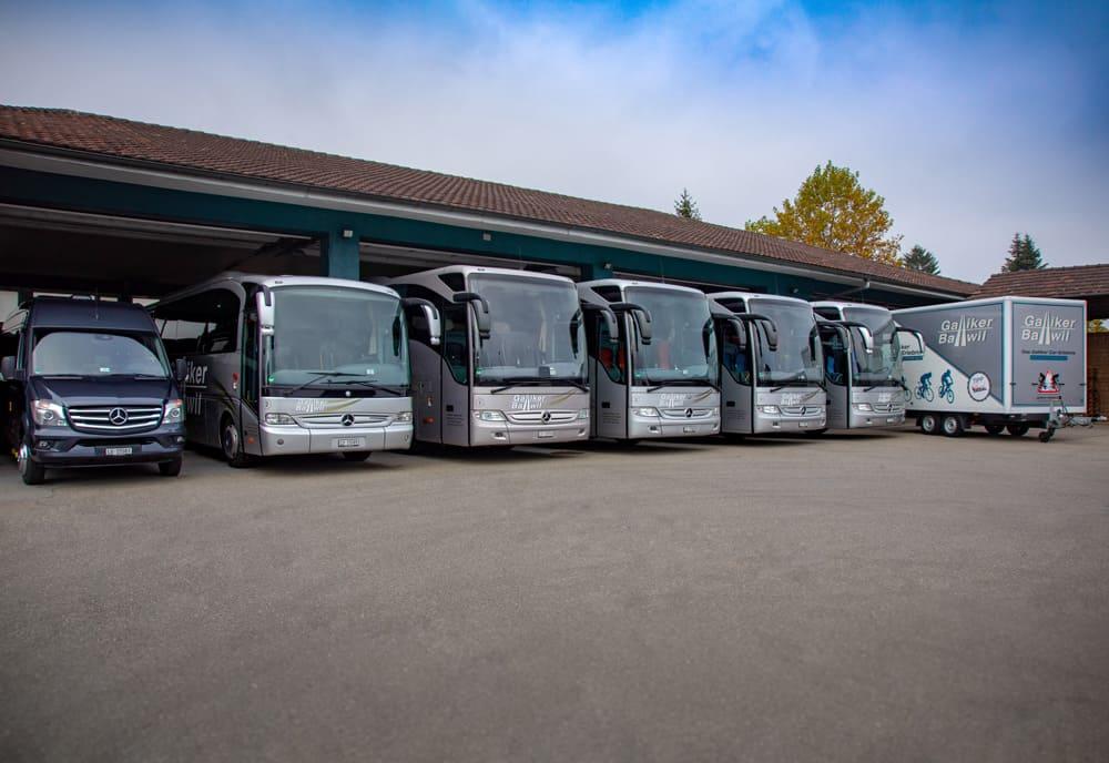Fahrzeugflotte ReiseCars der Galliker Ballwil AG CarReisen