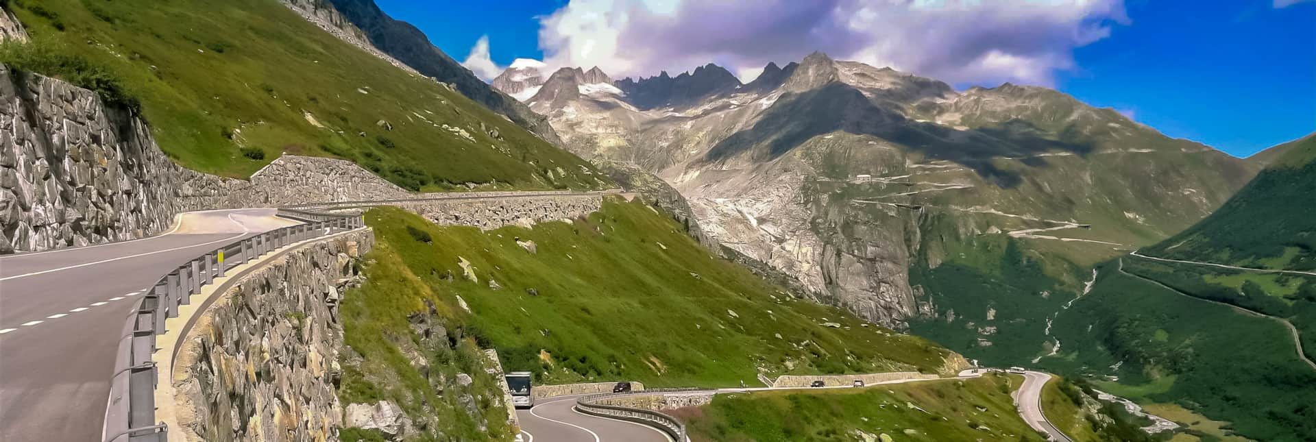 Mercedes Reisecar am Grimselpass Galliker Ballwil AG CarReisen