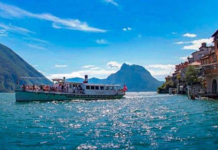 Lugano Schiff bei Gandria