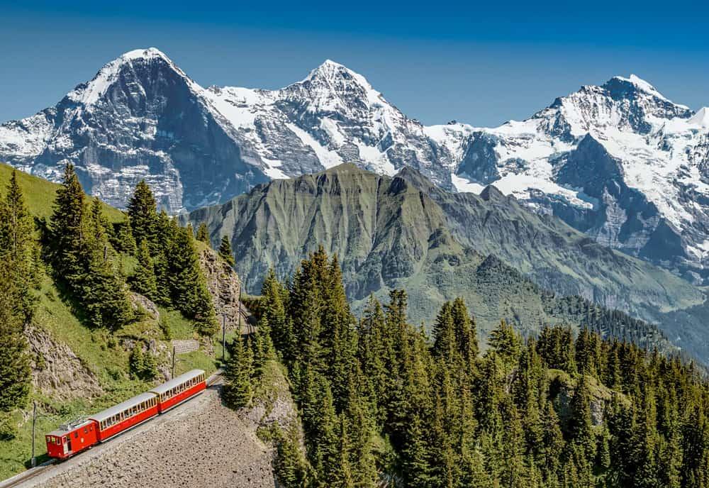 Schynige Platte Bahn und Eiger, Mönch und Jungfrau