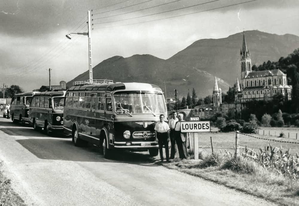 1958 in Lourdes Galliker Ballwil AG CarReisen