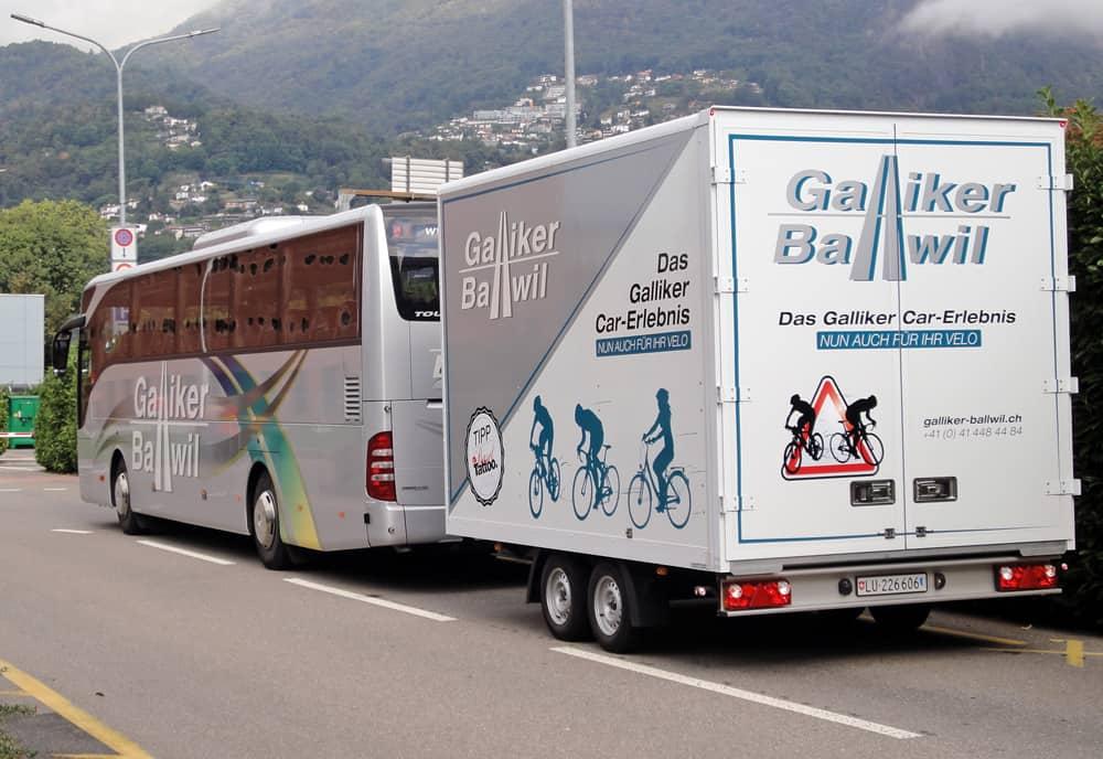 Fahrradanhänger Im Tessin Galliker Ballwil AG - CarReisen