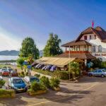 zum Mittagessen im Hotel Schiff am See in Murten
