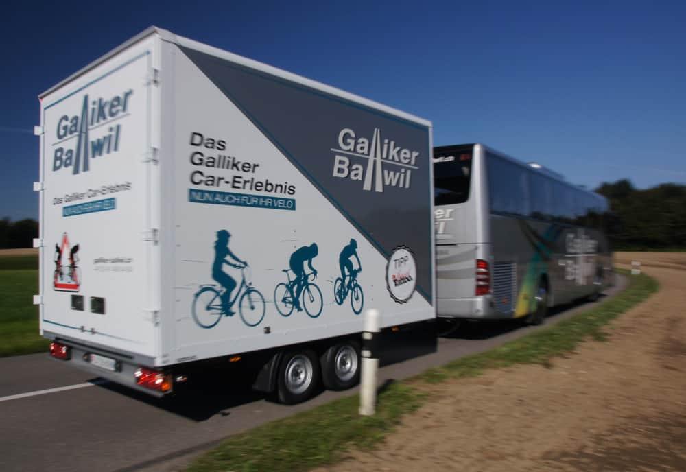 Veloanhänger Und Mercedes Tourismo 51-Plätzer Galliker Ballwil AG CarReisen