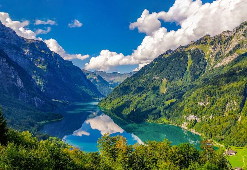 Aussicht Auf Klöntalersee Von Der Schwammhöhe