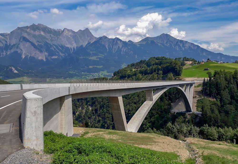 Taminabrücke Im Taminatal Bei Pfäfers