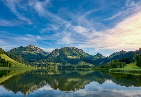 Schwarzsee im Kanton Fibourg