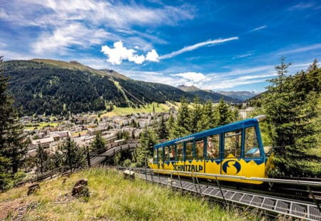 Standseilbahn Schatzalp oberhalb Davos
